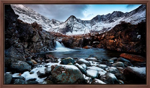 Spring Snow Fairy Pools - Modern Print