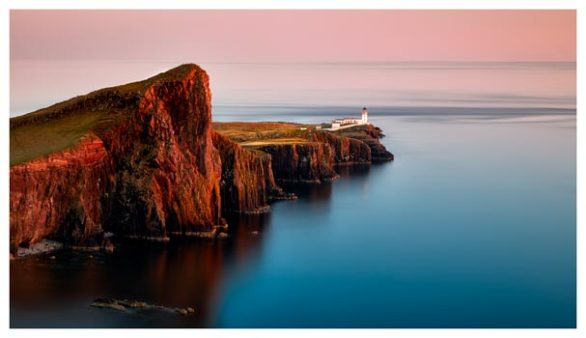 Calmness at Neist Point Lighthouse - Isle of Skye Print