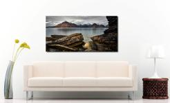 Cuillin Mountains From Elgol - Print Aluminium Backing With Acrylic Glazing on Wall