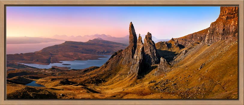 Old Man Storr Golden Light - Modern Print