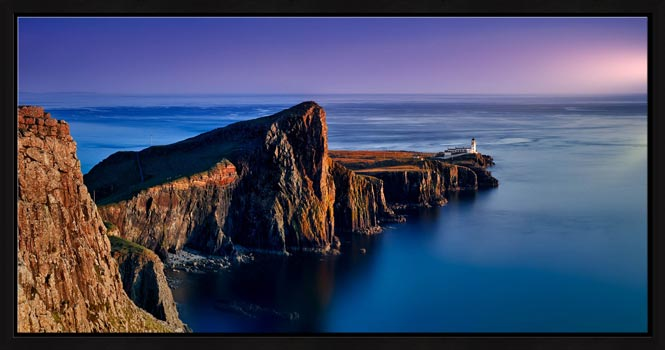 Golden Cliffs of Neist Point - Modern Print