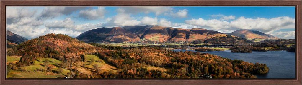 Keswick and Skiddaw Panorama - Modern Print