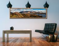 Keswick and Skiddaw Panorama - Oak floater frame with acrylic glazing on Wall