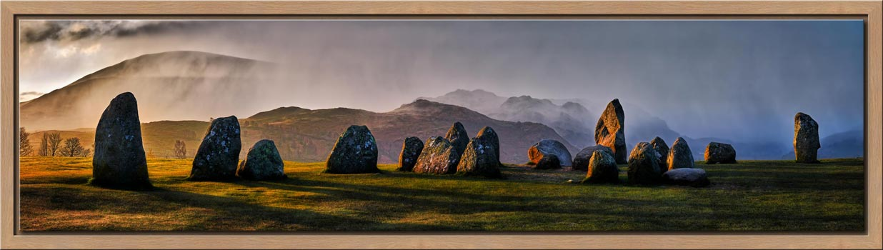 Sunlight and Showers at Castlerigg - Modern Print