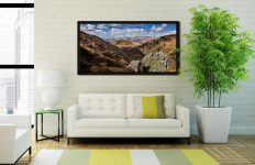Grisedale Tarn in the Morning Sunshine - Black oak floater frame with acrylic glazing on Wall