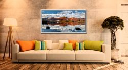 Cat Bells in Autumn - White Maple floater frame with acrylic glazing on Wall