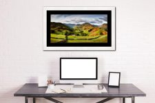 Green Fields of Martindale - Framed Print with Mount on Wall