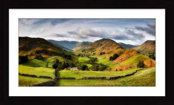 Green Fields of Martindale - Framed Print