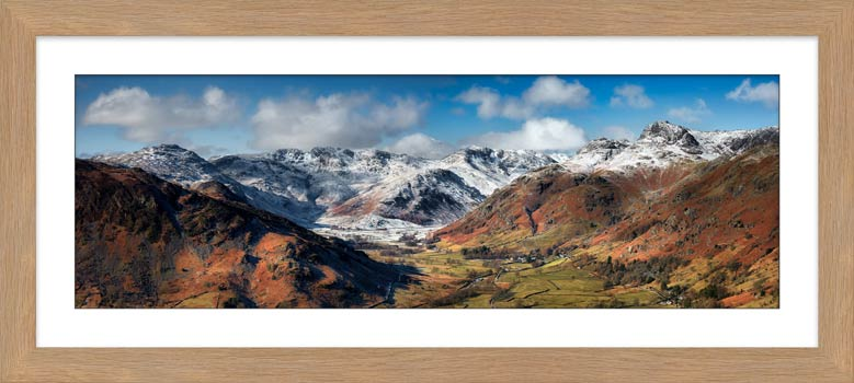 Great Langdale Valley in Winter - Framed Print