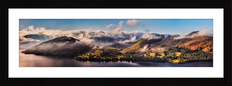 Ullswater Clouds and Mists - Framed Print with Mount