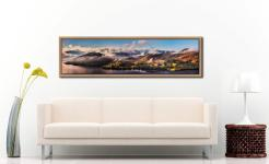 Ullswater Clouds and Mists - Oak floater frame with acrylic glazing on Wall