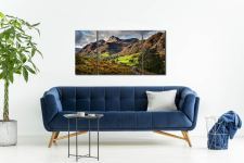 Cumbrian Way Langdale - 3 Panel Wide Centre Canvas on Wall