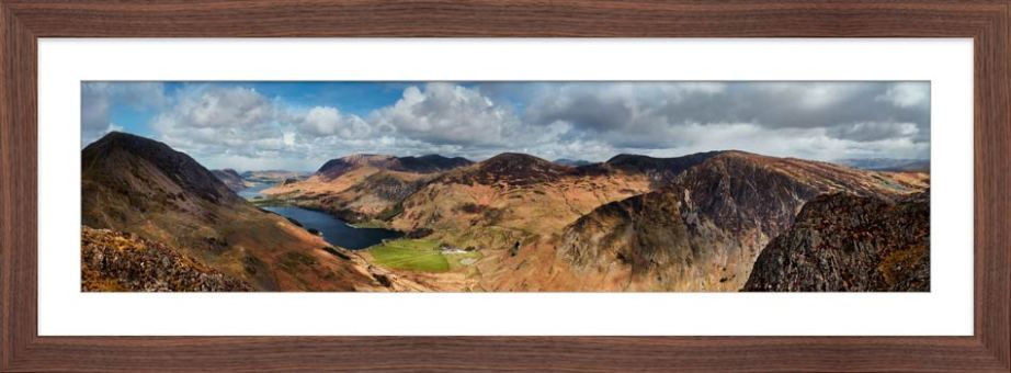 Fleethwith to High Crag - Framed Print