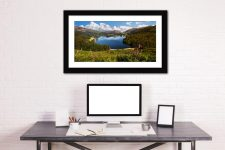 Summer at Grasmere - Framed Print with Mount on Wall