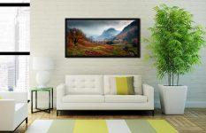 Dark Autumn at Eagle Crag - Black oak floater frame with acrylic glazing on Wall
