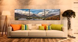 Grasmere Rainbow - 3 Panel Canvas on Wall
