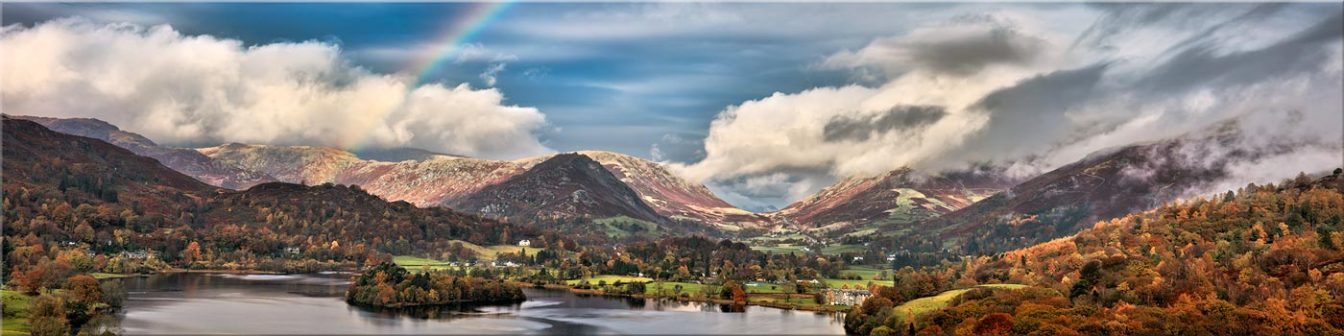 Grasmere Rainbow - Canvas Prints