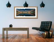Buttermere Reflections - Framed Print with Mount on Wall