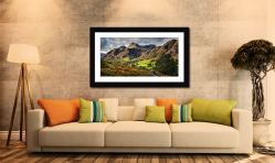 Cumbrian Way Langdale - Framed Print with Mount on Wall