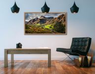 Cumbrian Way Langdale - Oak floater frame with acrylic glazing on Wall