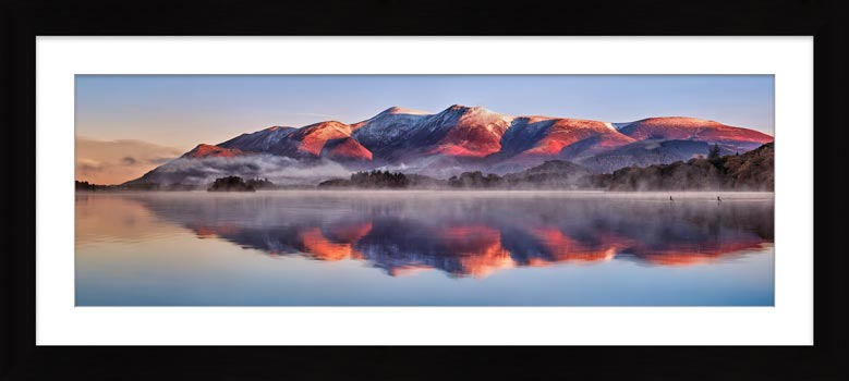 Skiddaw Reflection - Framed Print with Mount