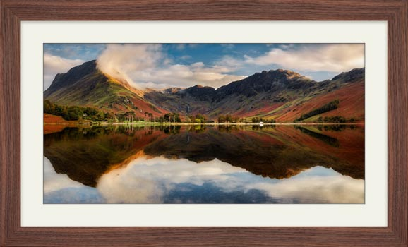 Buttermere Evening Light - Framed Print with Mount