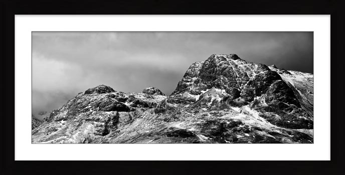 Snow on the Langdale Pikes - Framed Print