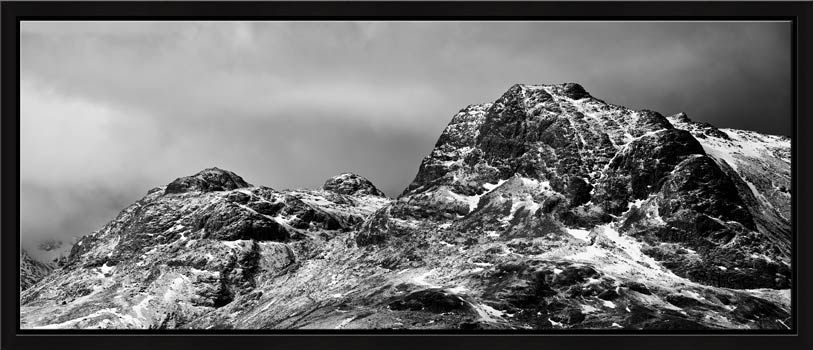 Snow on the Langdale Pikes - Modern Print