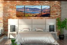 Derwent Water Autumn Panorama - 3 Panel Wide Mid Canvas on Wall