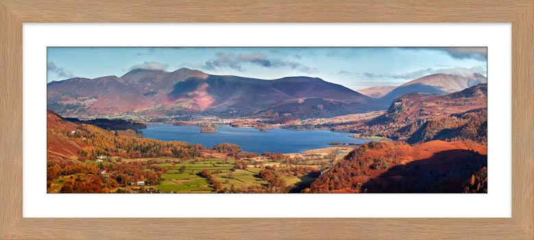 Derwent Water Autumn Panorama - Framed Print