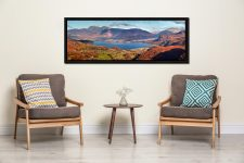 Derwent Water in Autumn viewed from Castle Crag - Black oak floater frame with acrylic glazing on Wall