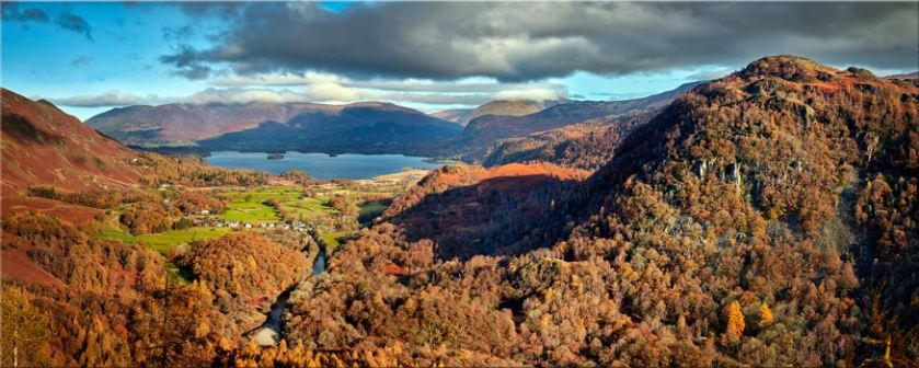 Derwent Water from Castle Crag - Lake District Canvas