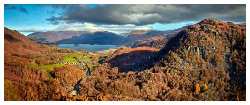 Derwent Water from Castle Crag - Lake District Print