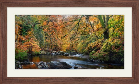 Manesty Park in Autumn - Framed Print with Mount