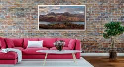High Stile High Crag in Autumn - White Maple floater frame with acrylic glazing on Wall