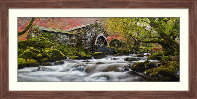 Borrowdale Mill Panorama - Framed Print
