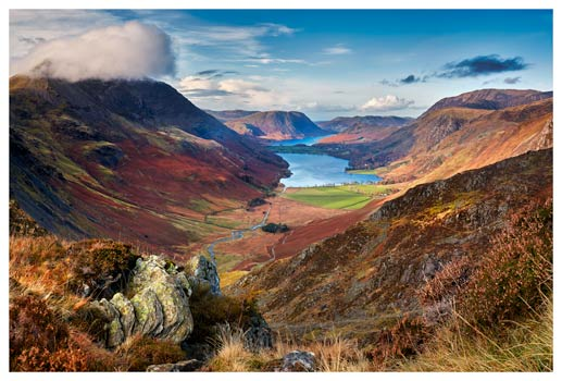 Buttermere Valley from Hay Stacks - Lake District Print