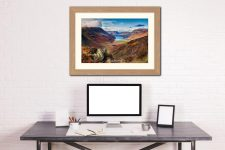Buttermere Valley from Hay Stacks - Framed Print with Mount on Wall