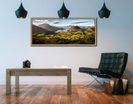 Wonderful view down the Buttermere valley from Loweswater Fell on a summer's morning - Oak floater frame with acrylic glazing on Wall