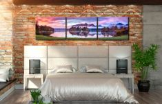 Derwent Water Sunrise - 3 Panel Canvas on Wall