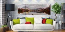 Buttermere Between the Showers - 3 Panel Wide Mid Canvas on Wall