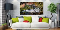 Ullswater Stormy Skies - 3 Panel Canvas on Wall