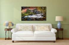 Borrowdale Mill - Lake District Canvas on Wall