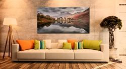 Grey Skies Over Buttermere - Canvas Print on Wall