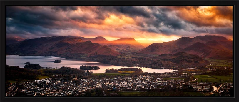 Sun Rays Over Cat Bells- Modern Print