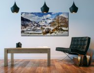 The Langdale Boulders in Winter - Canvas Print on Wall
