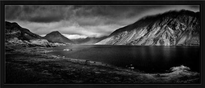 Sunlight on Wast Water - Black White Modern Print
