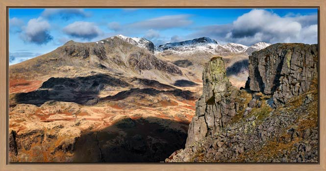 Eskdale Needle and Scafell Mountains - Modern Print