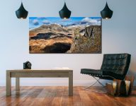 Eskdale Needle and Scafell Mountains - Print Aluminium Backing With Acrylic Glazing on Wall