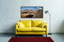 Eskdale Needle and Scafell Mountains - Walnut floater frame with acrylic glazing on Wall